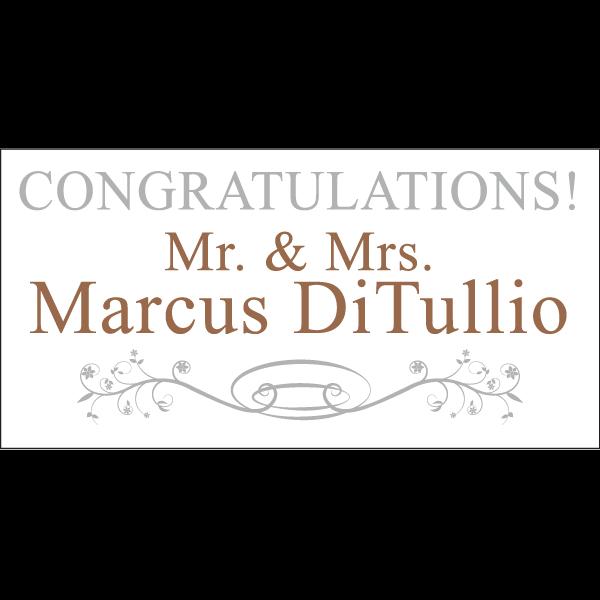 congratulations bride groom banner