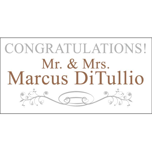 congratulations bride groom magnet