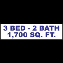 3 Bed 2 Bath Rider