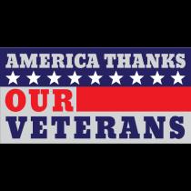 America Thanks Our Veterans Banner
