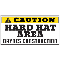 Caution Hard Hat Area