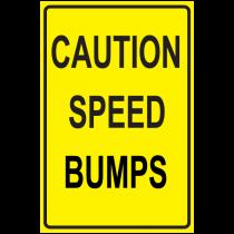 Caution Speed Bumps