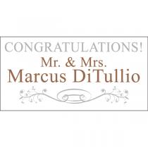 Congratulations Bride & Groom Magnet