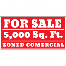 For Sale Zoned Commercial Sign
