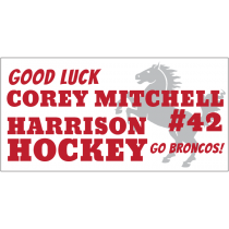 Good Luck Broncos Magnet