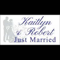 Just Married Filigree Magnet