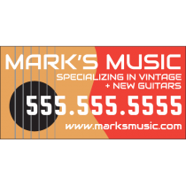 Music Store Banner