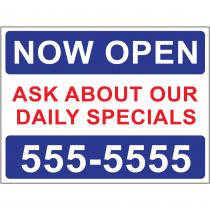 Now Open Specials