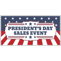 Presidents Day Sales Event Sign