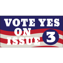 Vote Yes On Issue 3 Banner