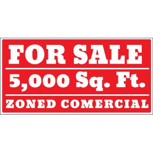For Sale Zoned Commercial  Banner