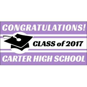 Graduation Cap Banner